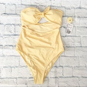 NWT Forever 21 Yellow One Piece Swimsuit